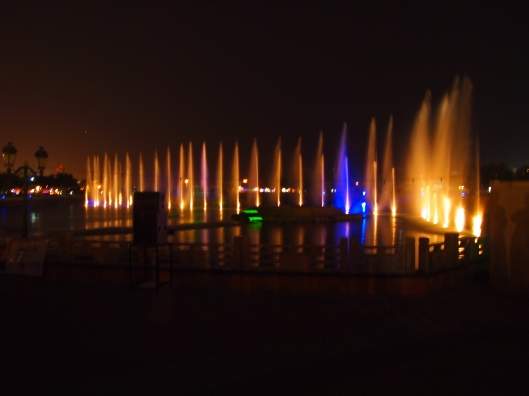 the light show at Qurum Park