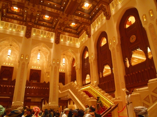 inside the opera house for Omar Khairat