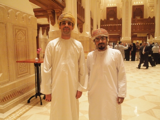 Riyadh and Haitham ~ Riyadh writes the Omani Cuisine blog... :-)