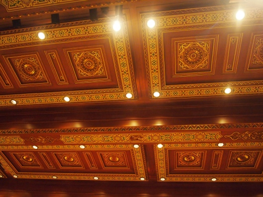 the ceiling in the royal opera house