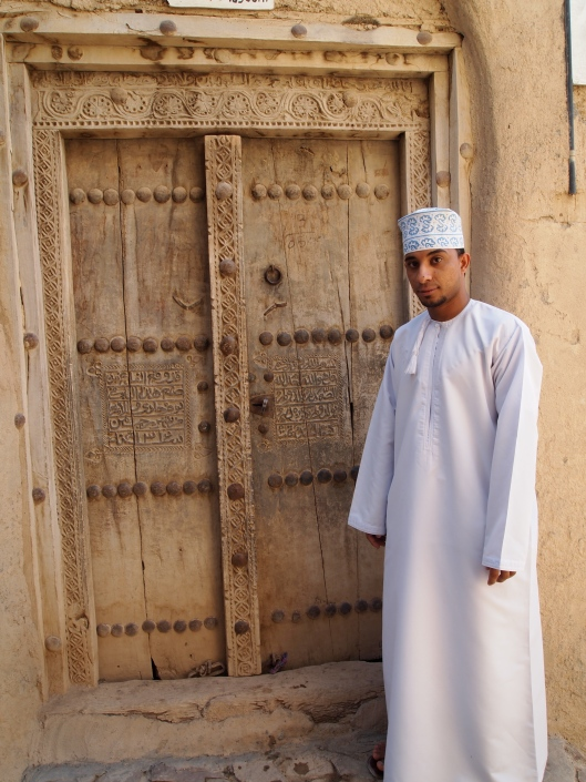 the engraved doors at Bait al-Jabal Museum in Al Hamra...and the kind curator
