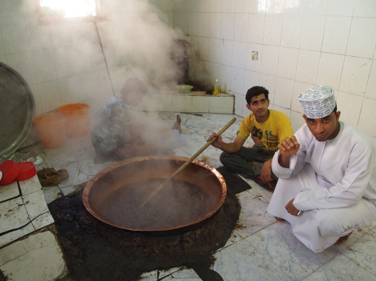 Omanis cooking halwa