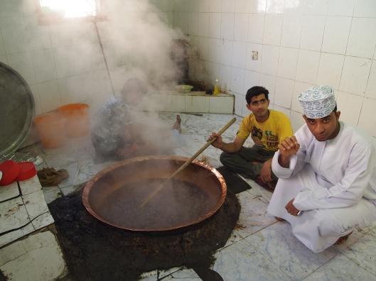 Omanis cooking halwa