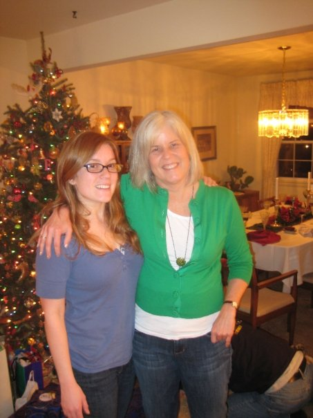 Sarah with me at Christmas a couple of years ago