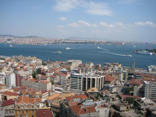 Istanbul ~ the view from Galata Tower to the Bosphorus