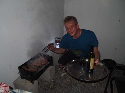 James and his asador