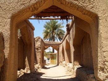 passageways through old Bahla, Oman