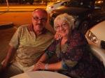 Malcolm & Sandy at the Turkish restaurant in NIzwa, Oman