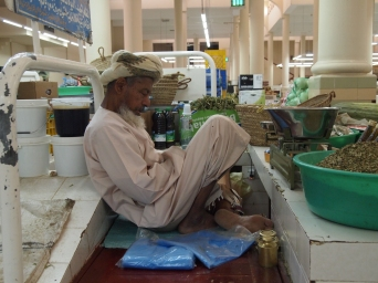 asleep at work ~ Nizwa souq, Oman