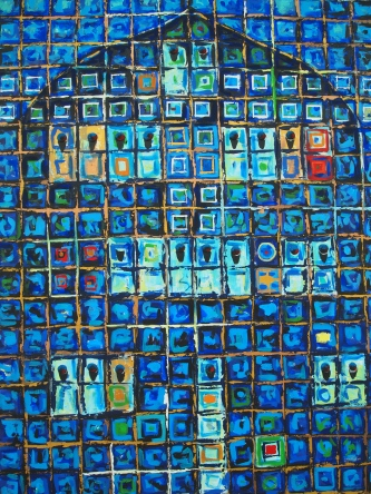 part of the Door Series (?) by Abdul Majeed Karooh at Bait Muzna Gallery, Oman