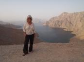 me on top of the ridge overlooking Khor an Najd in Musandam, Oman