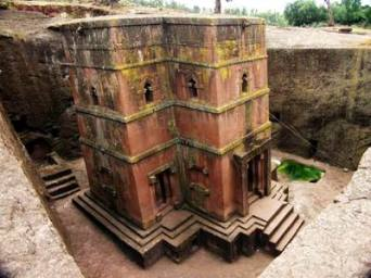 rock-hewn church at Lalibela, Ethiopia