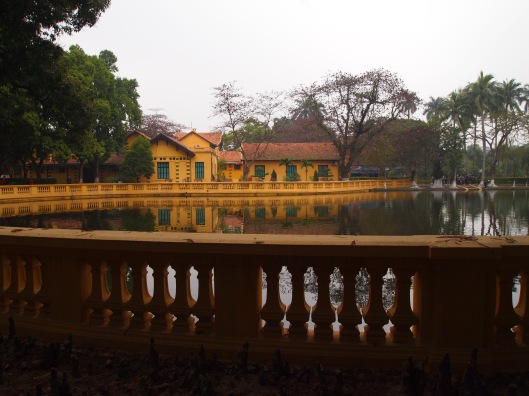 a carp pond at the Ho Chi Minh complex in Hanoi, Vietnam