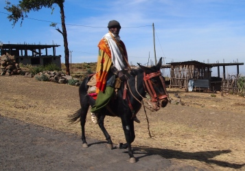 Man heading to market in Lalibela