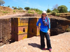 Me on the edge of Bet Giyogis, Lalibela, Ethiopia