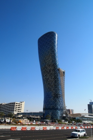 The Capital Gate Tower in Abu Dhabi