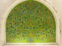 a green niche at the Sheikh Zayed bin Sultan al-Nahyan Mosque in Abu Dhabi, UAE