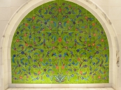 a green niche at the Sheikh Zayed bin Sultan al-Nahyan Mosque in Abu Dhabi, UAE