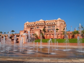 fountains in front of Emirates Palace