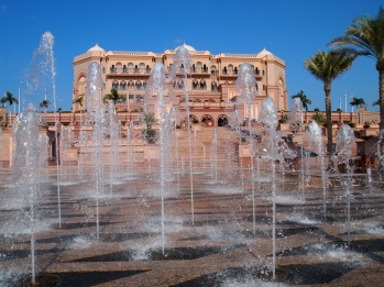 fountains galore at Emirates Palace