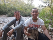 Mario & Mohammed in the wadi
