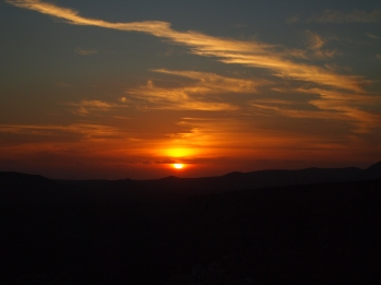 sunset on Jebel Akhdar