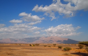 mountains near Sharqiya Sands