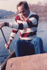 Mike and I canoeing on the Potomac River in Georgetown in our early days before we married...