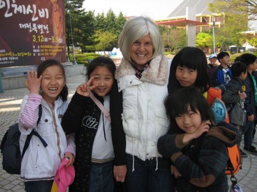 me on a field trip with my students at Chojeon Elementary School in Korea 2010