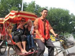 rickshaw in Beijing, China