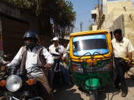 traffic jam in Varanasi, India