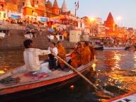 boats in Varanasi, India
