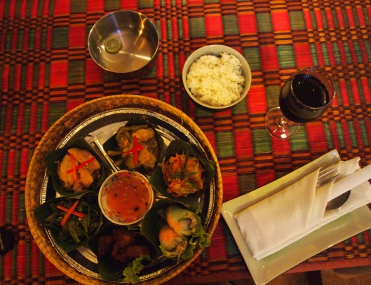 a dinner of circles in Siem Reap, Cambodia