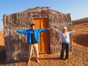 Adam and me at Camp Al Areesh in Oman last January