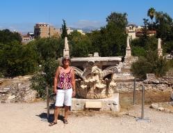 me at the Agora, Athens, Greece