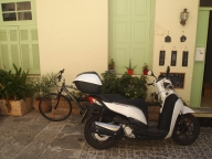 motorbike in Rethymno, Crete, Greece