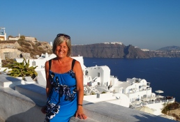 enjoying Oia in Santorini