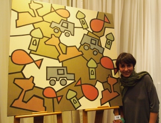 Kiko with her favorite painting