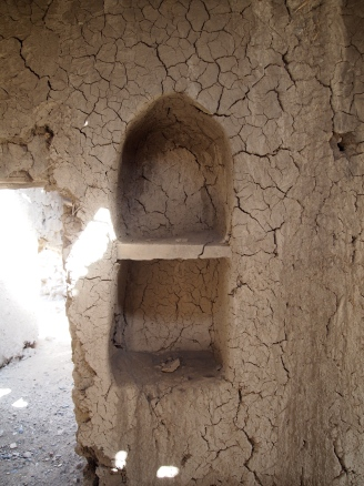 niches and rough mudbrick