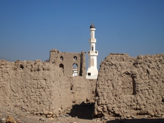the old town and the new mosque minaret