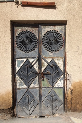 Omani metal door in the new village