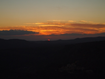 the sun sets on Jebel Akhdar