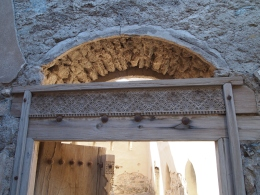 beautifully carved doorway