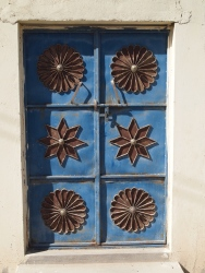 typical metal Omani door