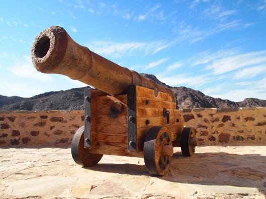 cannon at Bait al Khabib