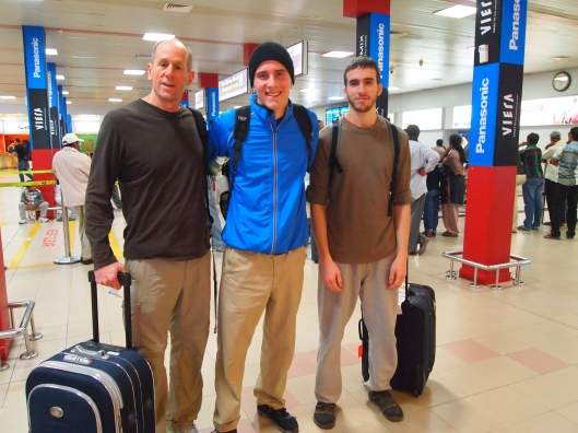 Mike, Adam & Alex arrive at Seeb International Airport in Muscat