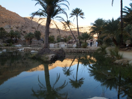 beautiful reflections at Wadi Bani Khalid