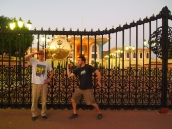 Adam & Alex in front of Al Alam Palace