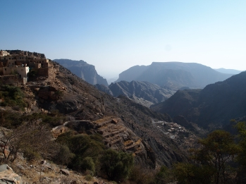 Beginning the hike to Al Aqr on Jebel Akhdar