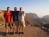 Alex, Mike and Adam with Wadi al Ayn behind